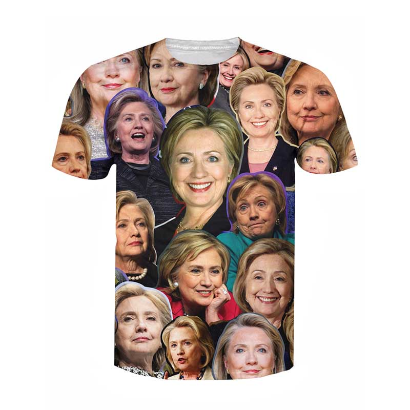 Hillary Clinton Paparazzi T-Shirt Women Men 3d Hillary's time t shirt Sport Tops Outfits Tees Summer Style Casual tshirts