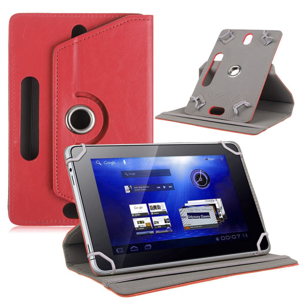 Rotating Cover for Digma Optima 7018N 4G TS7179ML Optima 7018N 4G TS7179ML <font><b>7580S</b></font> 4G PS7192PL 7 Inch Tablet Pu leather Case image