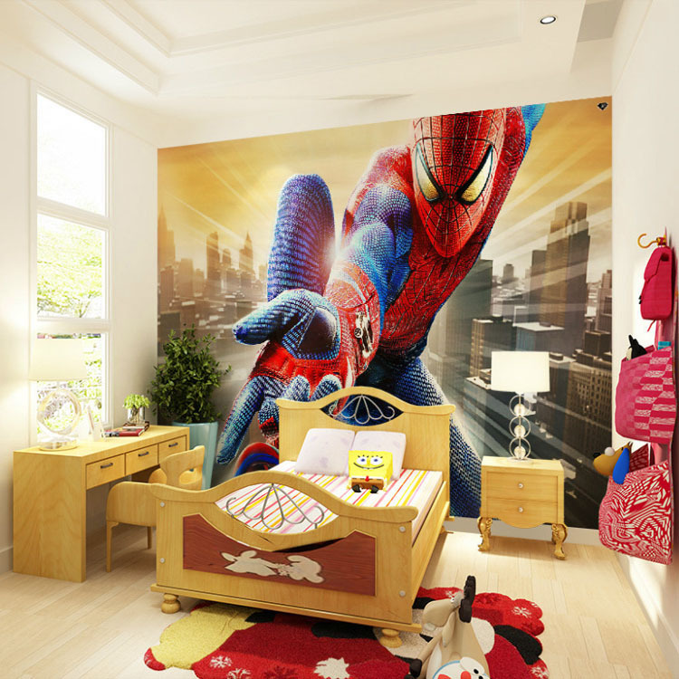 Buy custom marvel hero wall mural for Boys mural wallpaper