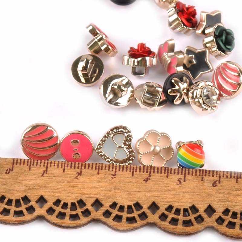 20 pièces acrylique motif mixte bouton rond mat bricolage accessoires de couture vêtement boutons décoratifs pour l'artisanat 10-14mm C1500