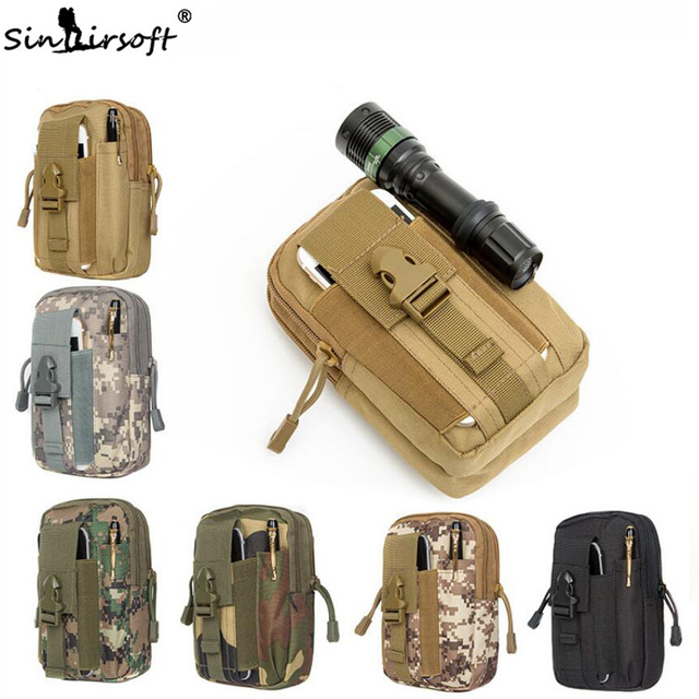 Tactical Sports Army Pouch Molle Hunting Bags Belt Waist Bag Military Fanny Pack Outdoor Pouches Phone Case Pocket For Iphone 7