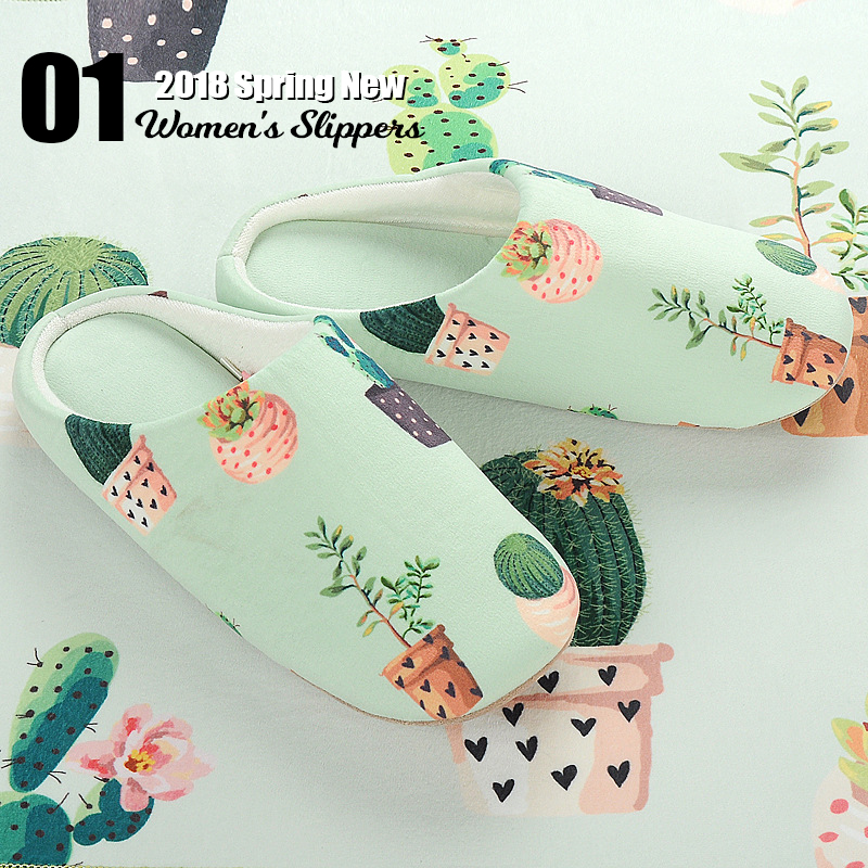 Cactus Printed Home Slippers  2