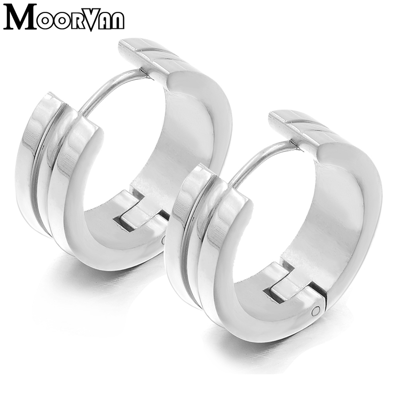 Moorvan серьги для мужчин Мода стиль нержавеющая сталь Серьги Кольца Рок Хип-хоп ювелирные изделия VE422