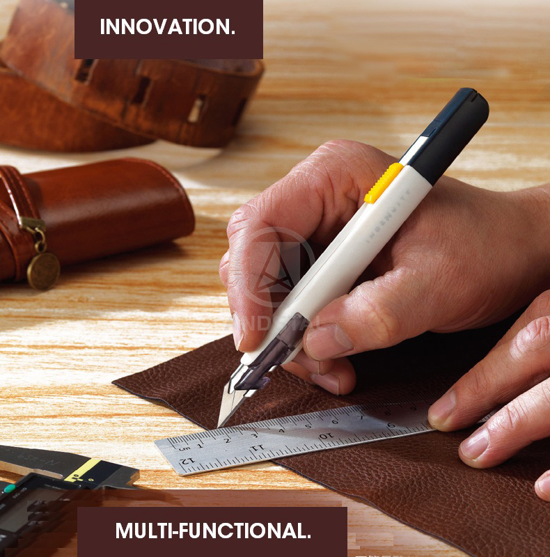 """M&G Multifunction Japanese """"GOOD DESIGN"""" Precision Cutter Utility Knife Blades 9mm for engraving Box Paper Mini Metal Art Knife 1"""