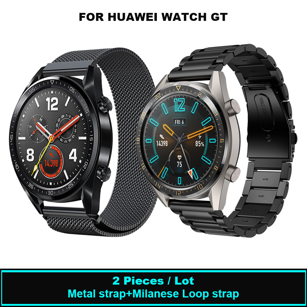22mm Metal Stainless Steel Milanese Loop Band For HUAWEI WATCH GT Bracelet Strap For HONOR Watch Magic Adjustable Watchband