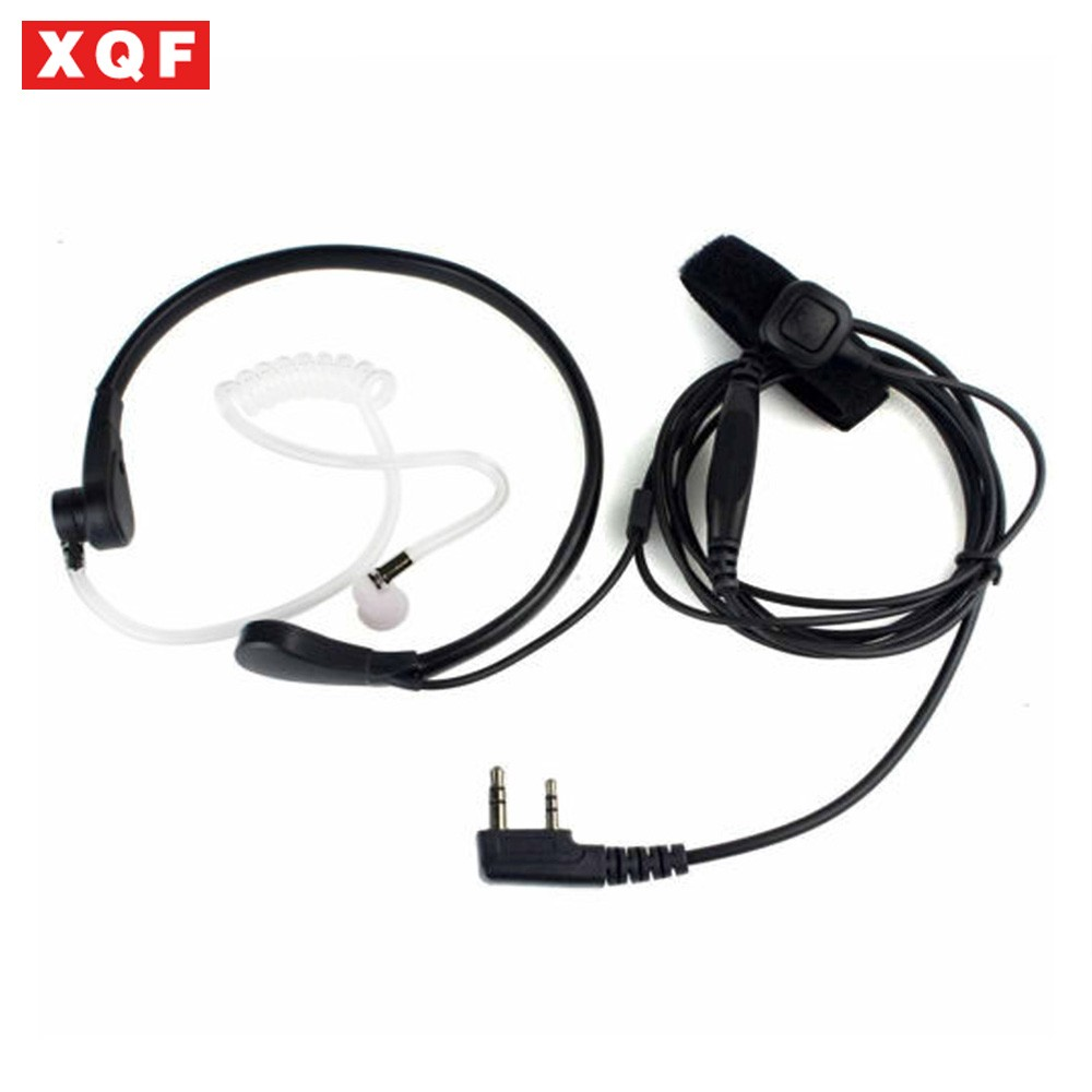 XQF Throat Mic PTT Earpiece For Kenwood BAOFENG UV-5R Baofeng BF-888S WOUXUN TYT QUANSHENG Ham Radio