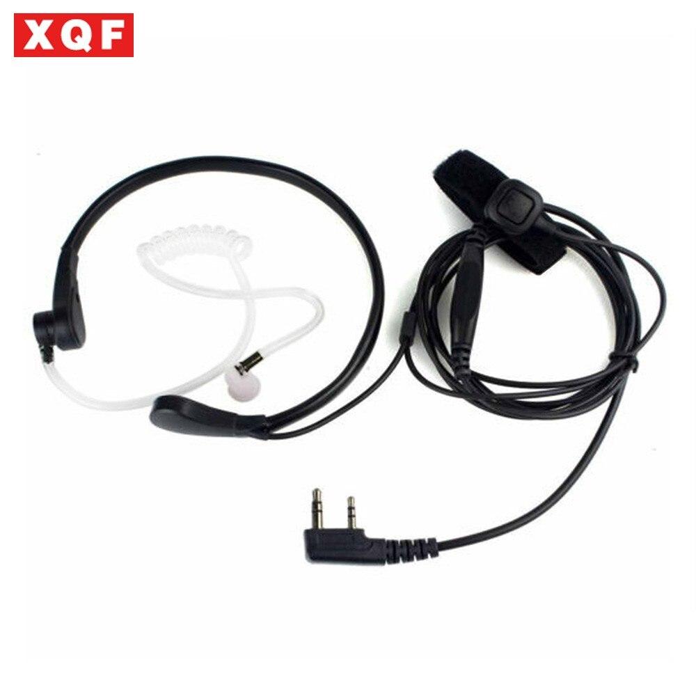 XQF Throat Mic PTT Earpiece For Kenwood BAOFENG UV-5R Baofeng BF-888S WOUXUN TYT QUANSHENG Ham Radio