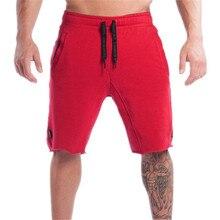 Summer New Cotton Men Shorts Calf-Length Gyms Fitness Casual