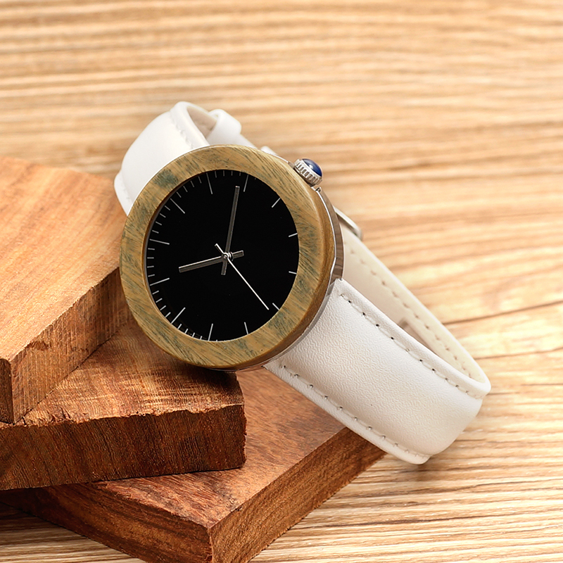 2016 Relojes Mujer BOBOBIRD Steel Wood Watches J02 Simple Style Women Watch With Soft Leather Band