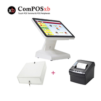 15 touch monitor cash register all in one pc pos systemfor restaurant touch screen terminal point of sale system
