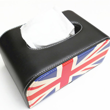 auto union jack pu leather tissue box for mini cooper s Convertible Coupe Roadster R50 R52 R53 R56 R60 R61 F55 F56 etc.