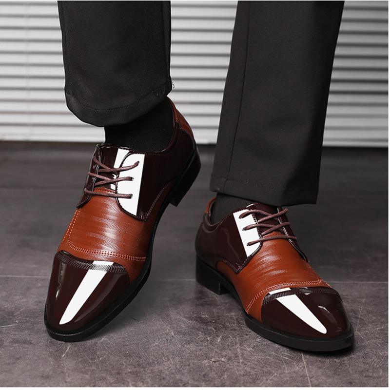 10ad0b09b32 HOT DEAL ~ REETENE 2018 Formal Shoes Men Pointed Toe Men Dress Shoes  Leather Men Oxford Formal Shoes For Men Fashion Dress Footwear 38-48