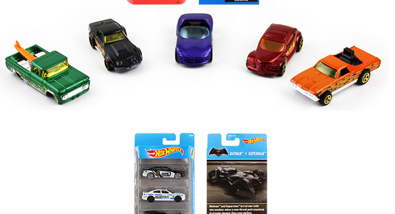 5pcs Pack Original Hot Wheels Cars