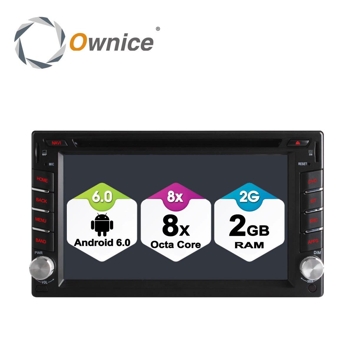 Ownice 4G SIM LTE Android 6.0 Octa Core 2G di RAM Universal Car Radio Auto 2 Din Car DVD player In Dash GPS Unità di Testa Stereo