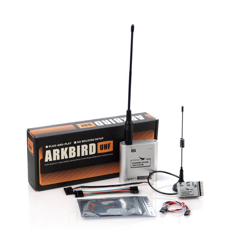 Original Arkbird 433MHz 10 Channel FPV LRS UHF Fhss System Transmitter and Receiver TX+RX Set