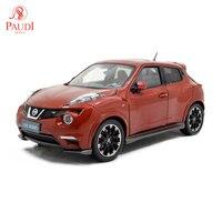 Модели Paudi 1/18 1:18 Масштаб Nissan Juke NISMO RS 2014 Красный литой модельный автомобиль игрушка, модель автомобиля двери