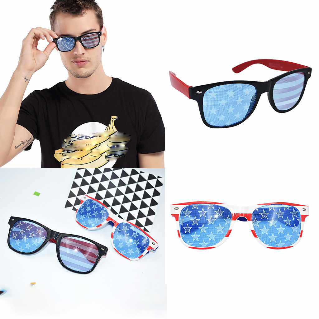 2dd30799e284 American Flag Print Funny Crazy Fancy Dress Glasses Novelty Costume Party  Sunglasses Accessories Eyewear #20