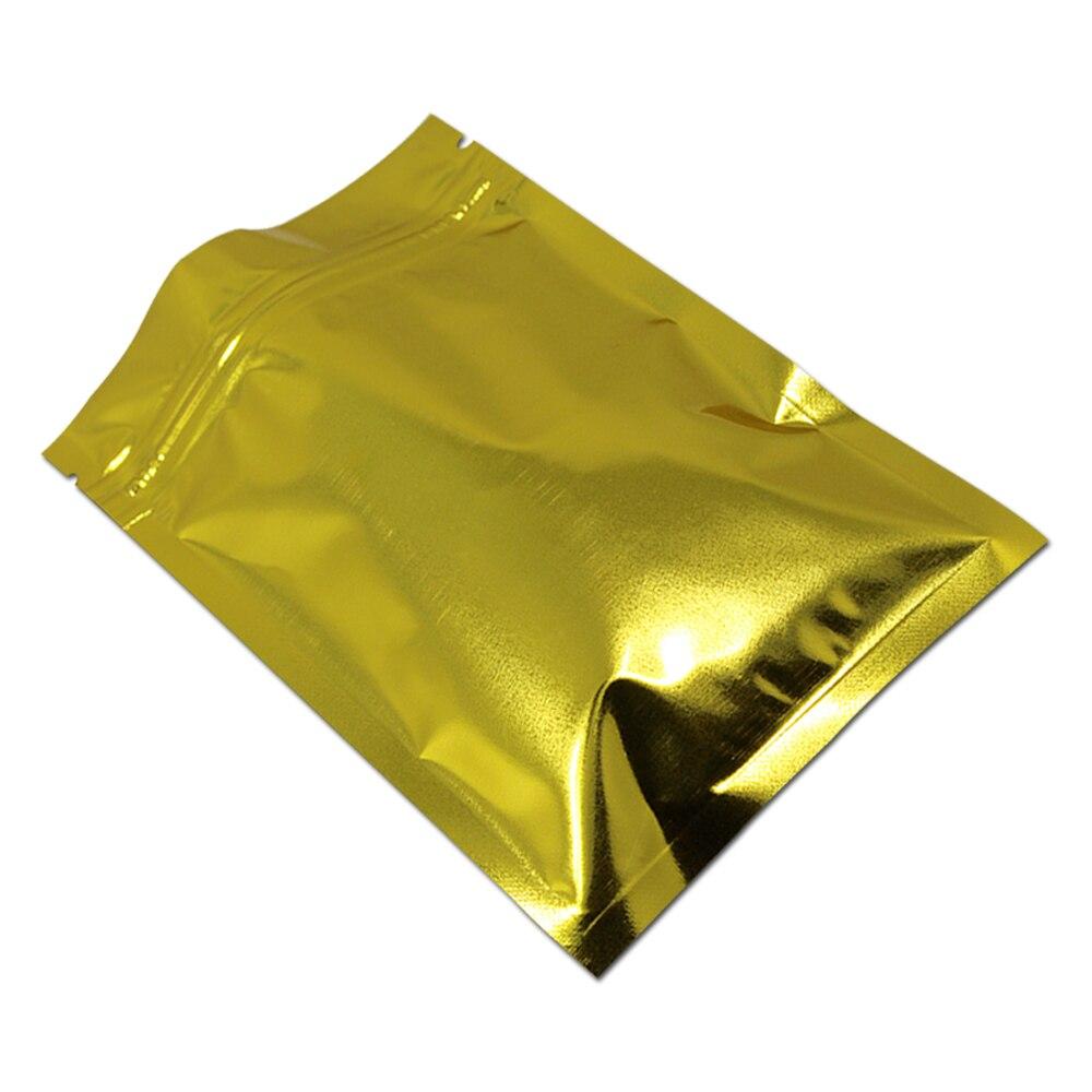 DHL rescellable or papier d'aluminium fermeture à glissière sacs thé alimentaire Snack poudre emballage fermeture à glissière poche auto joint Ziplock Mylar paquets sac