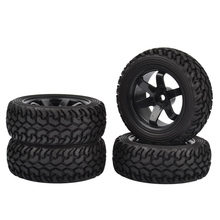 4PCS 1/10 High Performance RC Rally Car Grain Rubber tires and Wheels for 1:10 RC On Road Car Traxxas Tamiya HSP HPI Kyosho oil adjustable 68mm alloy aluminum shock absorber damper for rc car 1 10 on road drift car hpi hsp traxxas losi axial tamiya