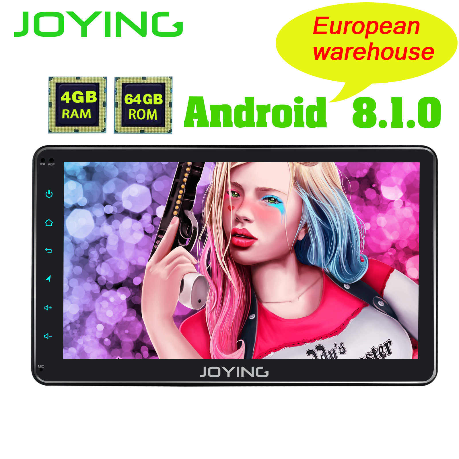 "EU Warehouse 1DIN Android Autoradio 10.1""  IPS screen 4GB RAM 8 Core Stereo 1024*600 GPS Radio with Built-in DSP/Carplay ZLINK"