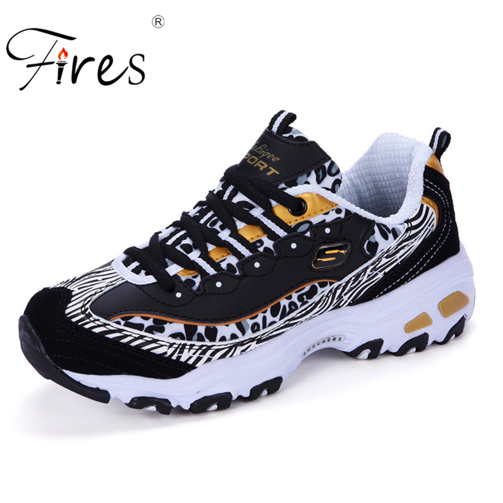 Fires Spring Woman Running Shoes Comfortable Sports Shoes Loose-fitting Lace-up Flats Ladies Breathable Women