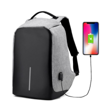 USB Mobile Phone Charging Leisure Backpack Linen Comfort Unisex Shoulder Bag Outdoor Sports Students Bags Casual Travel