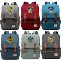 For Vip Link Dropshipping Magic Slytherin Gryffindor Hogwarts Boy Girl Student School bag Teenagers Women Men USB Belt Backpack