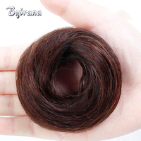Bybrana Remy Human Chignon 4 Colors Brazilian Hair Donut Buns Up Do Chignon Extensions For Women