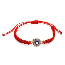 Wish Card Lucky, красные, черные браслеты с нитью, голубой Турецкий Дурной глаз, очаровательные женские браслеты ручной работы, модные ювелирные изделия, подарок EY31