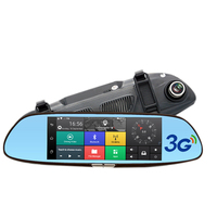 7 Inch Car Dvr Mirror Camera Android 5.0 Wifi Gps Full Hd 1080P Video Recorder Dual Lens Registrar Rear View Dvrs Dash Cam