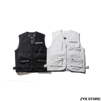 Best Version 1 1 Quality Place Faces Women Men Sleeveless Jacket Outwear Hiphop Brand P F