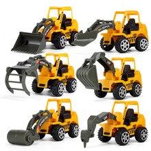 6 видов стилей мини литые под давлением пластиковые строительные машины инженерные автомобили экскаватор модель игрушки для детей мальчиков подарок