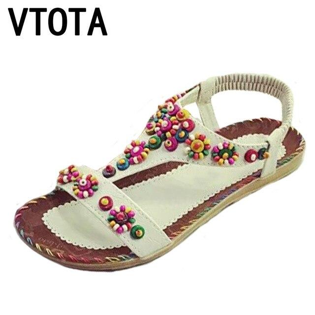 485d9afbea740 VTOTA Sandals Women Bohemia Beach Sandals 2018 Summer Open Toes Sandalia  Feminina Flat Sandals Women Shoes Sandalia Mujer G34