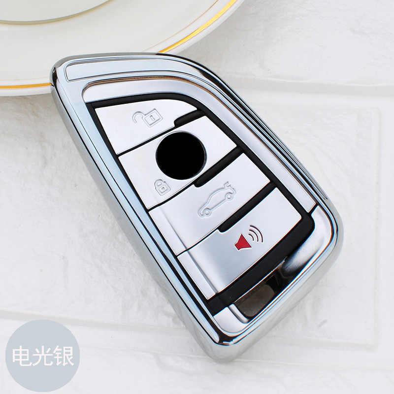 Yumuşak TPU araba anahtarı durum anahtar katlanır anahtar kabuk koruyucu BMW X5 F15 X6 F16 G30 7 serisi G11 X1 f48 F39 aksesuarları araba Styling