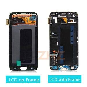 Image 2 - Lcd ekran için samsung galaxy s6 lcd ekran dokunmatik ekran digitizer için çerçeve ile G920 G920f için samsung s6 lcd tamir parçaları