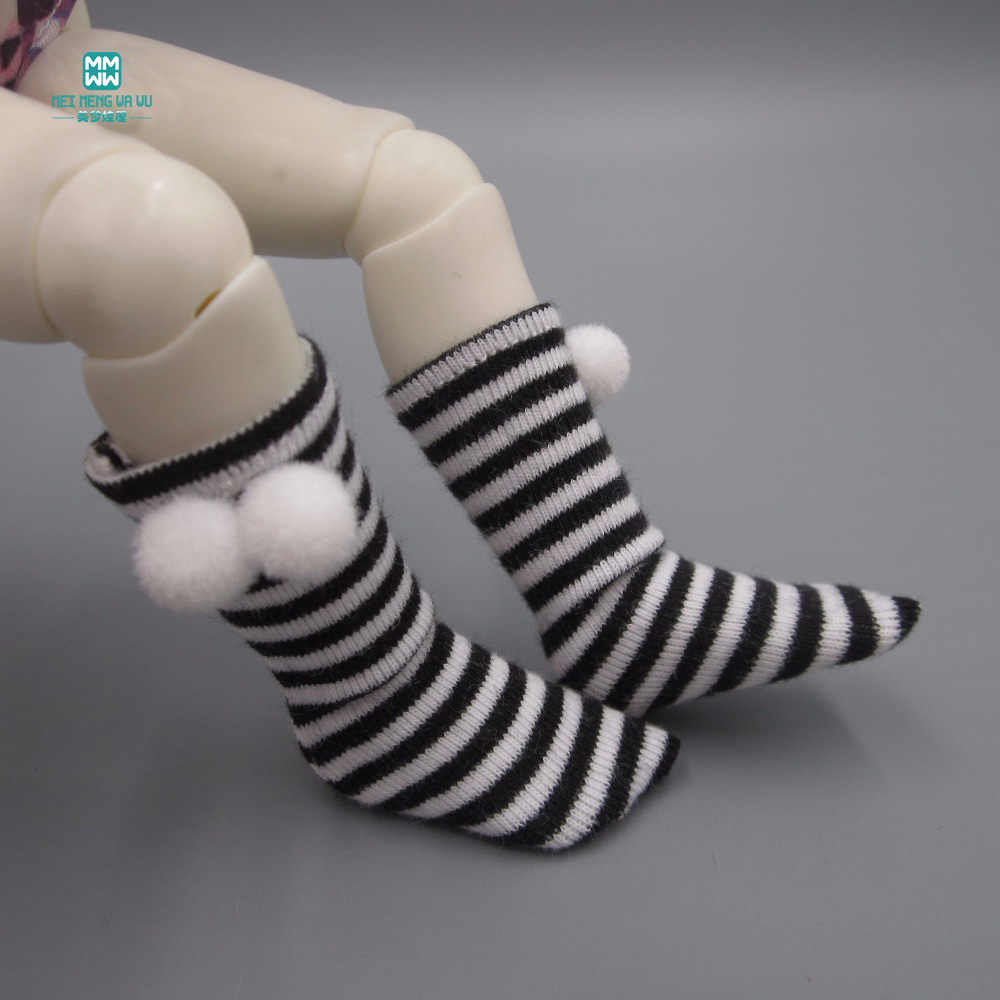Ball stripe socks fits 1/3 1/4 1/6 BJD DD SD MYOU YOSD GEM,XAGADOLL doll Accessories Party doll dress up