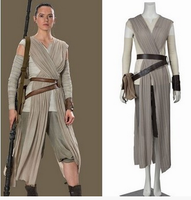 Star Wars 7 Lei Yi cosplay Star Wars Rejuvenation Rey / Rey Cos Set and Belt Stage Performance Halloween