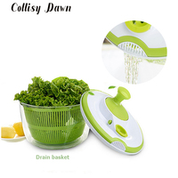 COLLISY DAWN Salad bowl Jumbo Salad Spinner Kitchen Tools kitchen accessories for vegatable Mixer Salad gadgets food helper