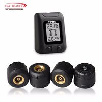 Built in Rechargeable Wireless TPMS Car Tire Pressure Monitoring System Auto Tyre Alarm System Tire Gauge Professional