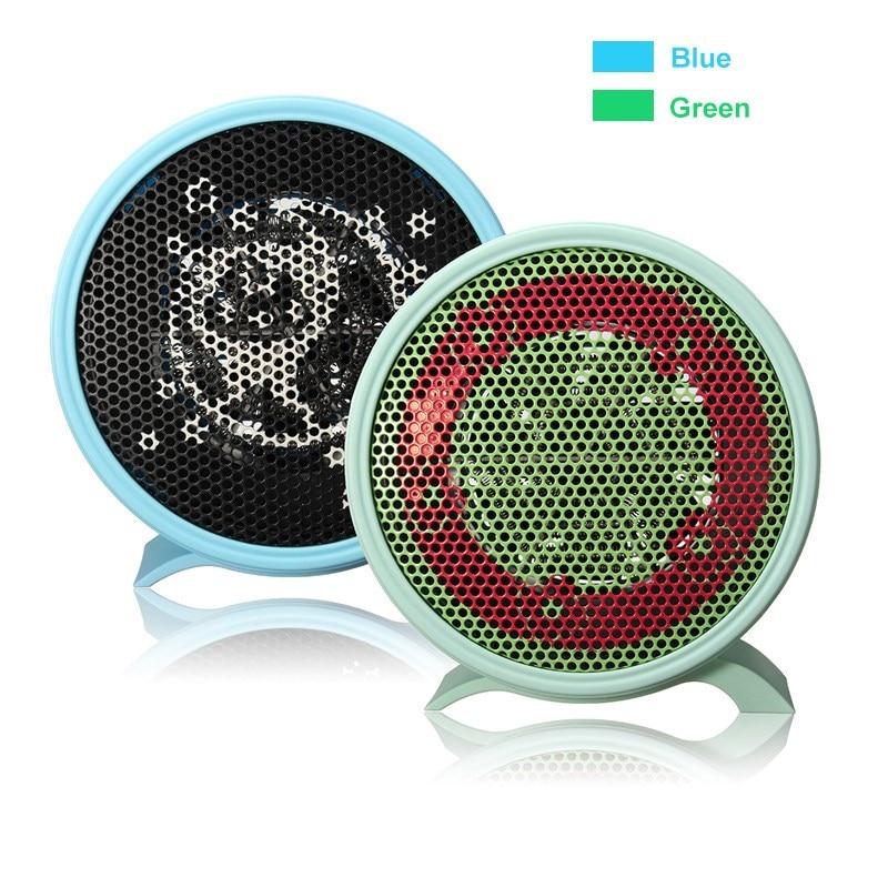 Portable Mini Personal Ceramic Space Electric Heater Winter Warmer Fan Desktop Heater For office Bedroom Green Blue
