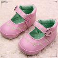 0-2 year old girl baby first walk shoe pink blue and black leather baby girl shoes children shoes 494