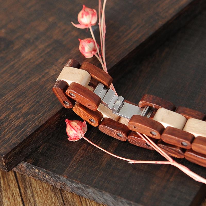BOBO BIRD Rose SandalWood Elegant Minimal Wooden Watch For Women 11