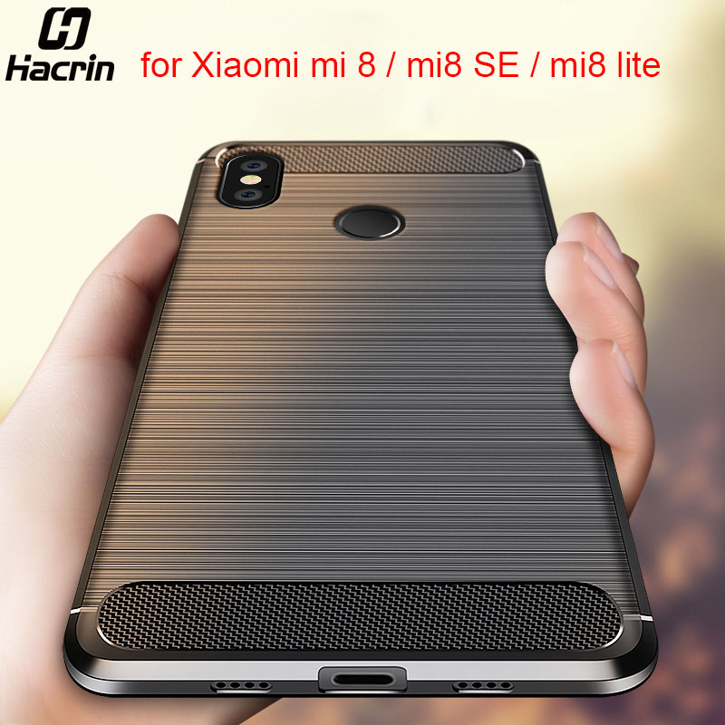 For Xiaomi Mi 8 Case Mi 8 Lite Cover Carbon Fiber Shockproof Case For Xiaomi Mi8 Silicone Protective Cover For Xiaomi Mi8 SE