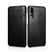Icarer For Huawei P20 P20 Pro Case Luxury Retro Genuine Leather Mobile Phone Shell For Huawei P20 Pro Flip Case Cover