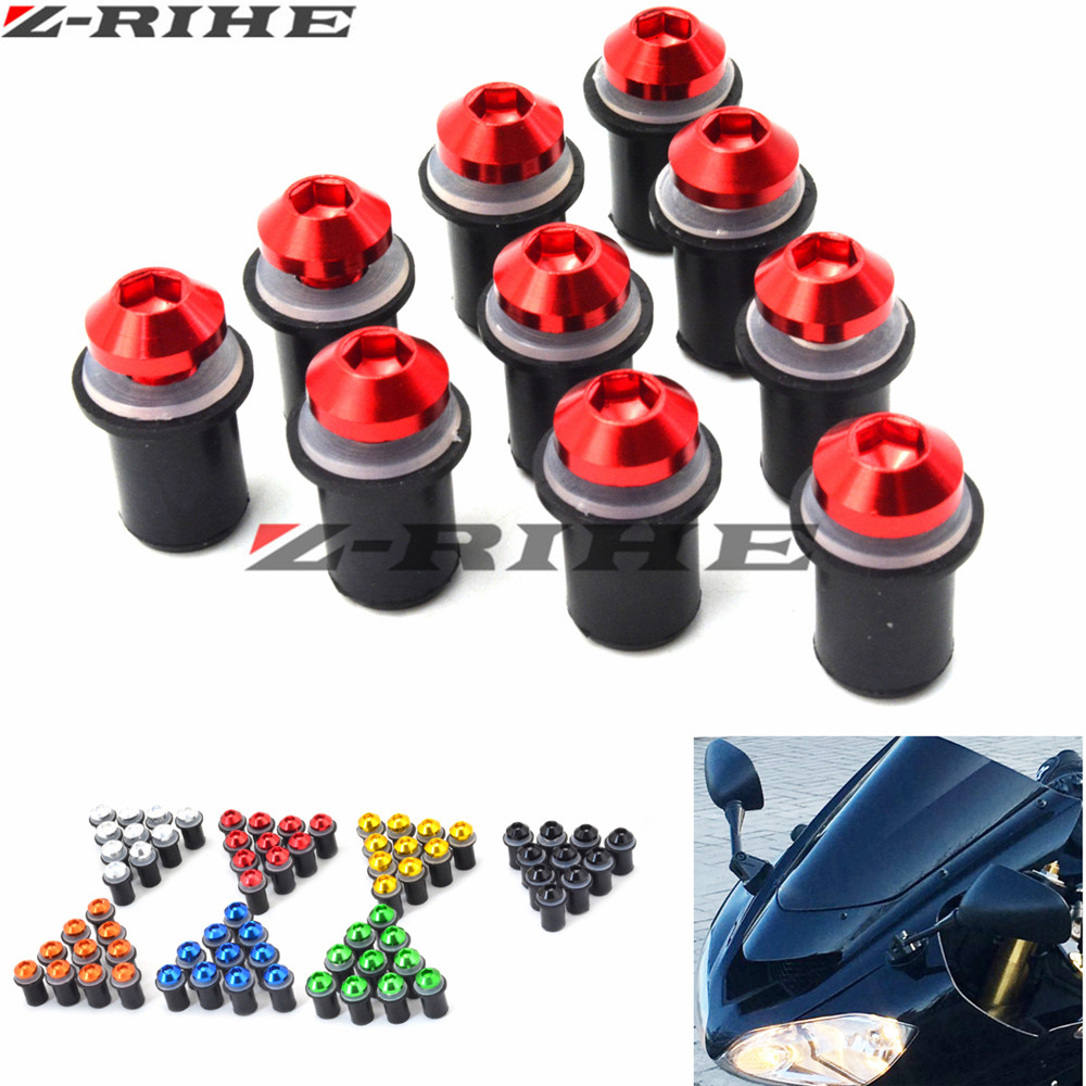 M5 Motorcycle Windshield Windscreen Bolt Screw Nut Fastener Kit for honda cbr600 CBR1000X CBR 1000X CB500R CB500X CB 500R 500 windscreen windshield bolts screws kit for honda transalp 400 600v xrv650 st1100 xl1000v cbr600rr 900 1000 cbr929 cbr600f 1000f