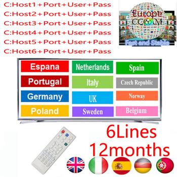 Europe HD Cable 1 Year Clines for V7S V8 Nova Satellite TV Receiver 6/7 Clines WIFI FULL HD DVB-S2 Support Spain Cline Server
