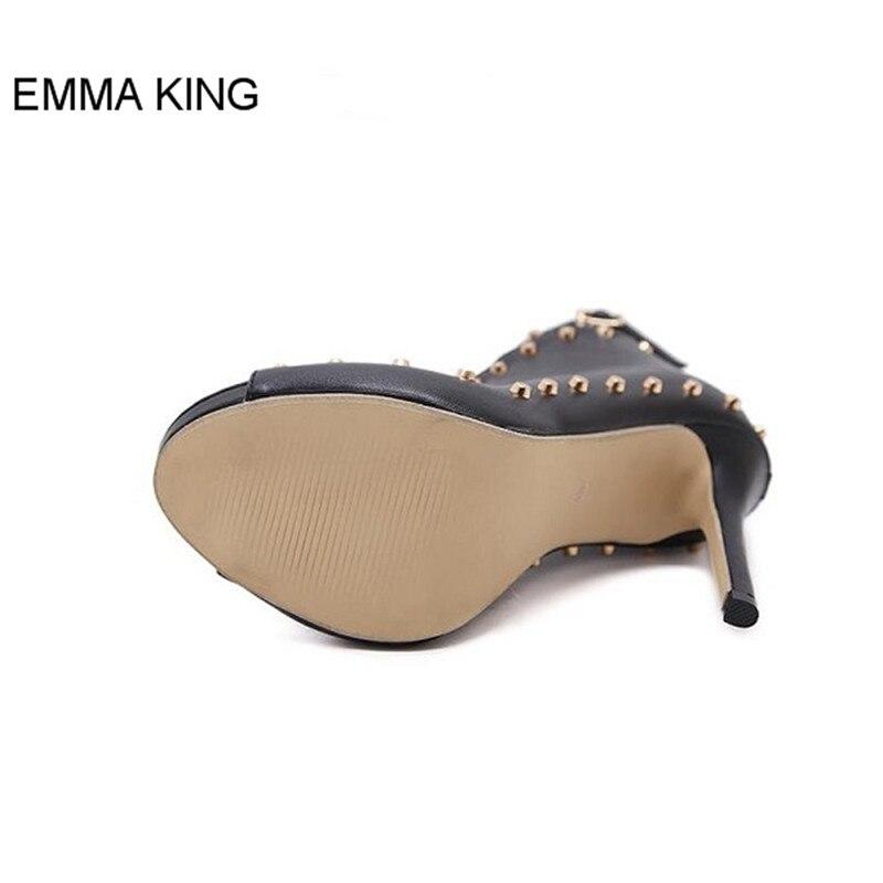 Haute Emma Partie Mince Type V Femmes Chaussures Sandales Sexy Rivet Roi Boucle Toe Picture Sangle La Pour Cheville Talons Peep Dames As Ouvert Décoration r16tOwrq