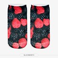 2015 New Harajuku Style Autumn and Winter 3D Funny Print Comfortable Cotton Short Ankle Socks Unisex Wholesale