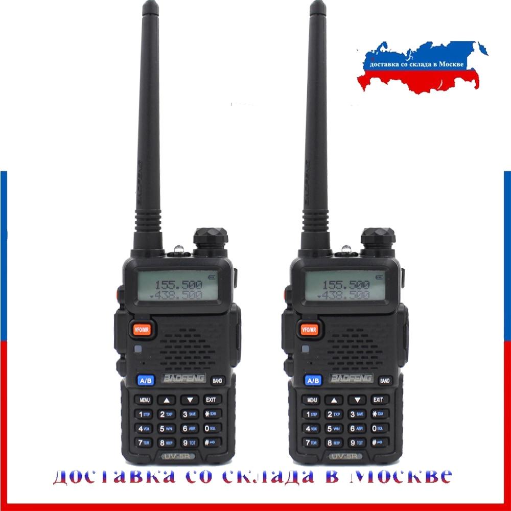 BaoFeng UV-5R talkie-walkie 5 W Radio bidirectionnelle Baofeng UV5R VHF UHF 136-174 Mhz et 400-520 Mhz émetteur-récepteur FM