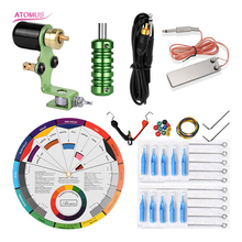 Clip Cord Tip Tattoo Needle Needling Kit Machine Complet Professionnelle Rotary Tatuar Profesional Equipo Para Pedal
